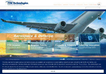 TTM Technologies, Inc. Website Screenshot