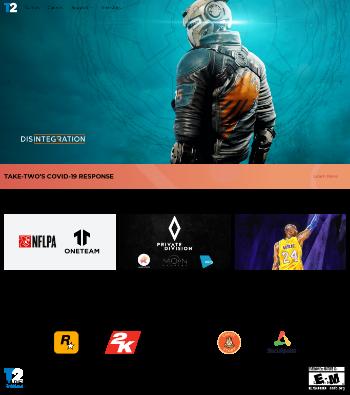 Take-Two Interactive Software, Inc. Website Screenshot