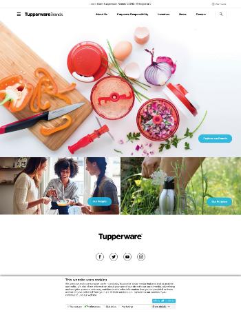 Tupperware Brands Corporation Website Screenshot