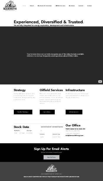 Mammoth Energy Services, Inc. Website Screenshot