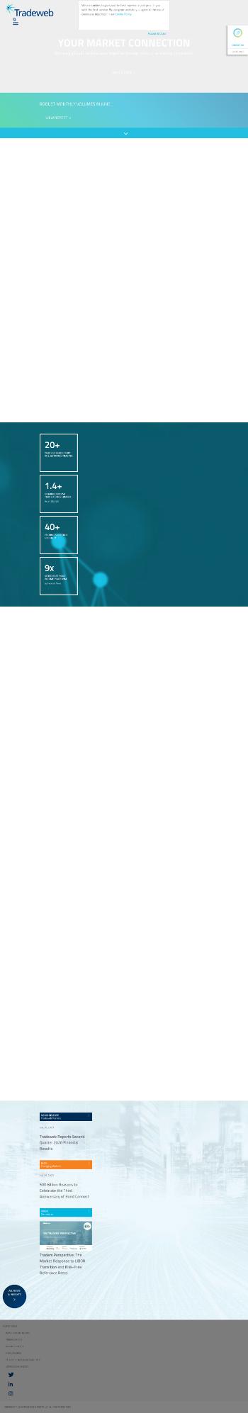 Tradeweb Markets Inc. Website Screenshot
