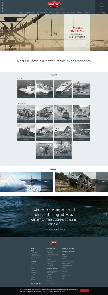 Twin Disc, Incorporated Website Screenshot