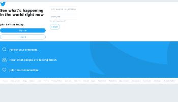 Twitter, Inc. Website Screenshot