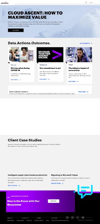 Accenture plc Website Screenshot