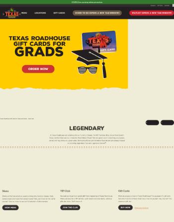 Texas Roadhouse, Inc. Website Screenshot