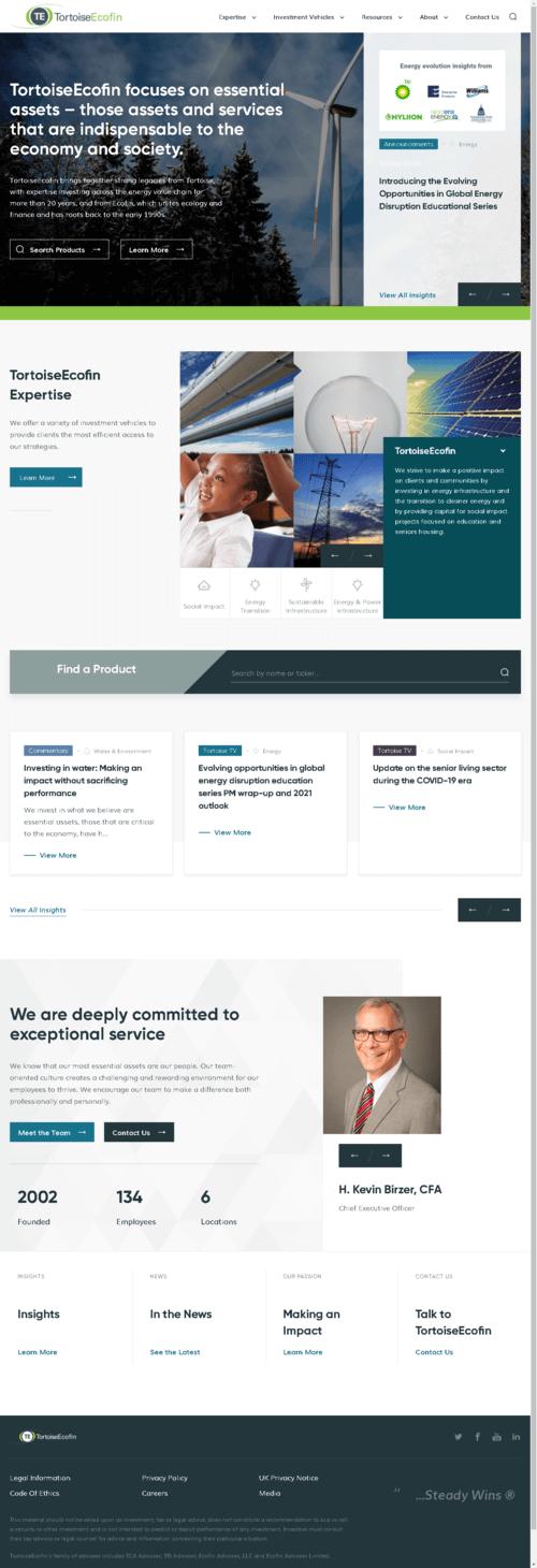 Tortoise Energy Infrastructure Corporation Website Screenshot