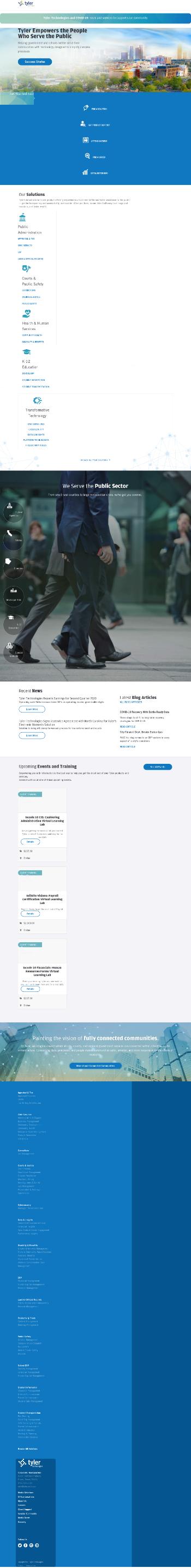 Tyler Technologies, Inc. Website Screenshot