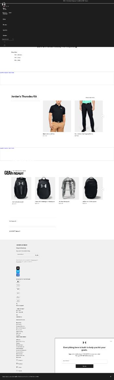 Under Armour, Inc. Website Screenshot