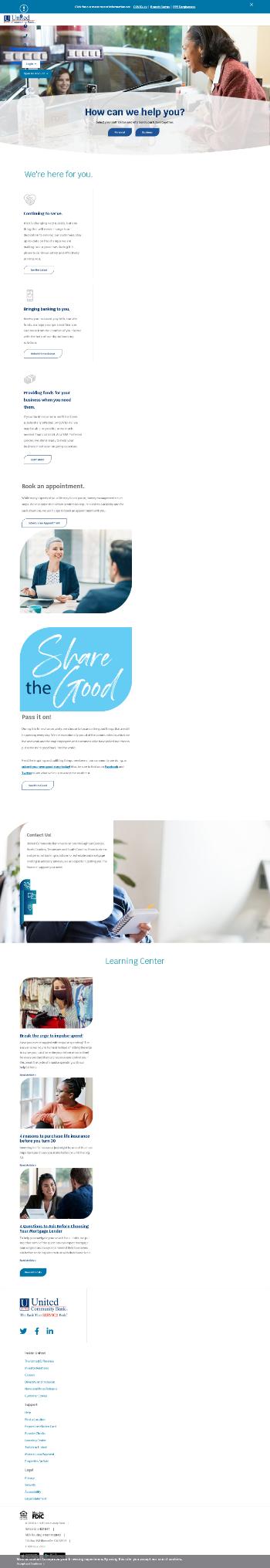 United Community Banks, Inc. Website Screenshot
