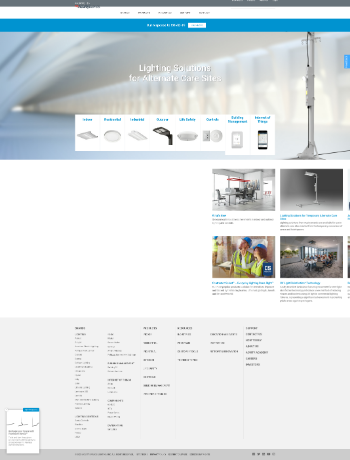 Acuity Brands, Inc. Website Screenshot