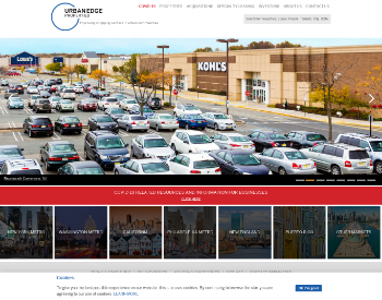 Urban Edge Properties Website Screenshot