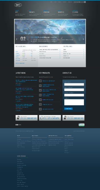 Net 1 UEPS Technologies, Inc. Website Screenshot