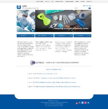 UFP Technologies, Inc. Website Screenshot