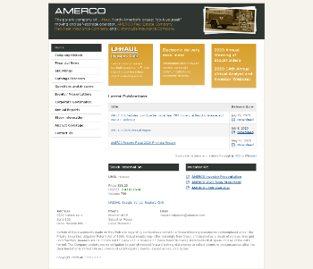 AMERCO Website Screenshot