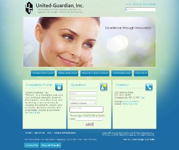 United-Guardian, Inc. Website Screenshot