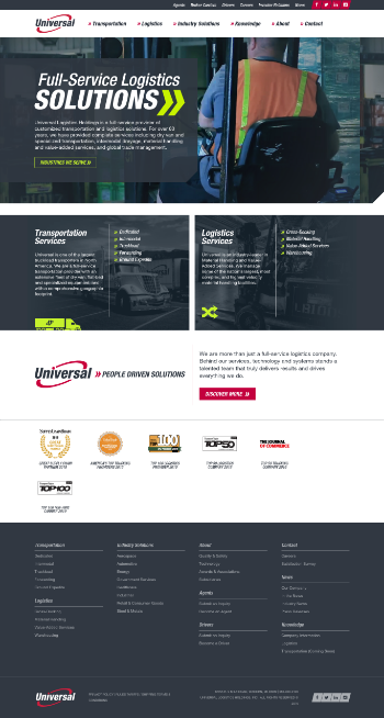 Universal Logistics Holdings, Inc. Website Screenshot