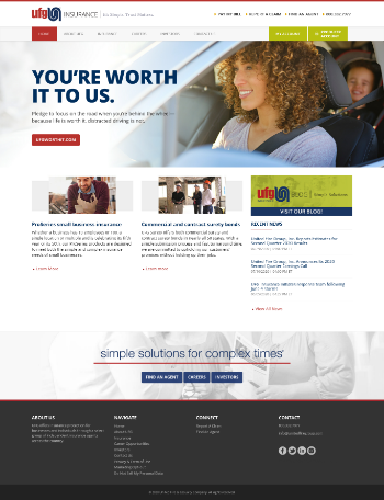 United Fire Group, Inc. Website Screenshot