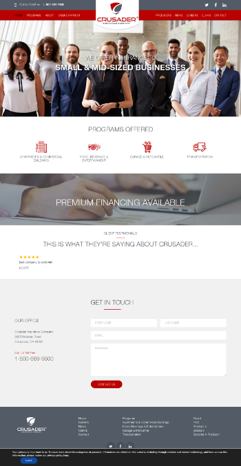 Unico American Corporation Website Screenshot