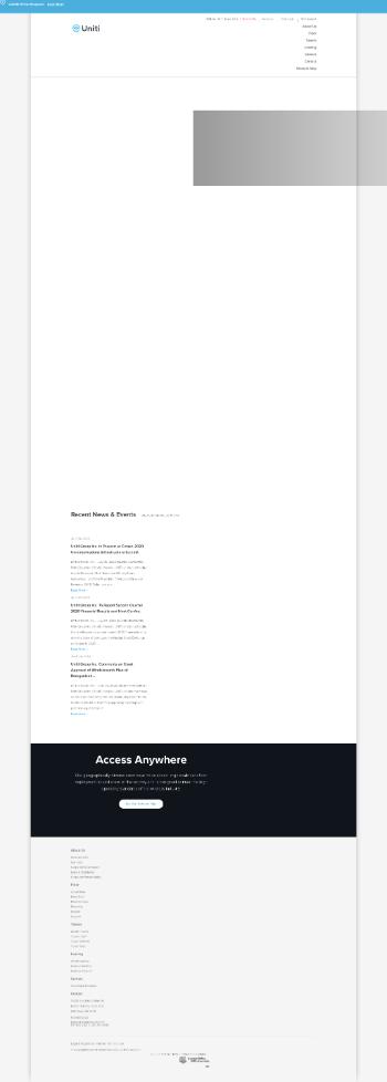 Uniti Group Inc. Website Screenshot