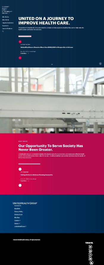 UnitedHealth Group Incorporated Website Screenshot