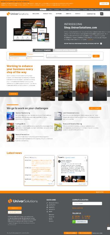 Univar Solutions Inc. Website Screenshot