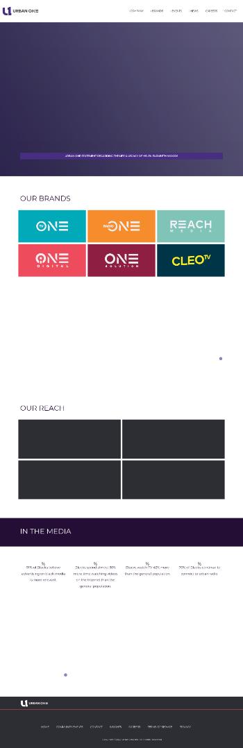 Urban One, Inc. Website Screenshot