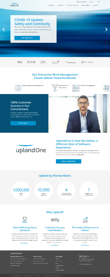 Upland Software, Inc. Website Screenshot