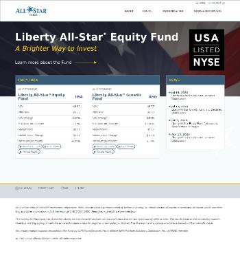 Liberty All-Star Equity Fund Website Screenshot