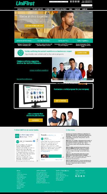 UniFirst Corporation Website Screenshot