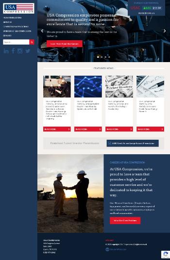 USA Compression Partners, LP Website Screenshot