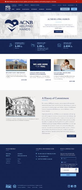 ACNB Corporation Website Screenshot