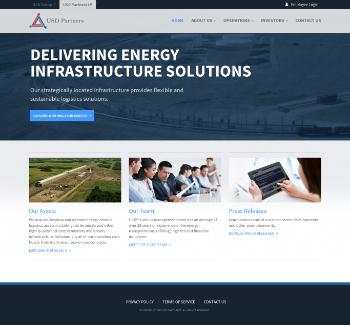USD Partners LP Website Screenshot
