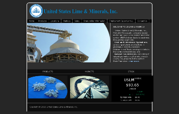 United States Lime & Minerals, Inc. Website Screenshot