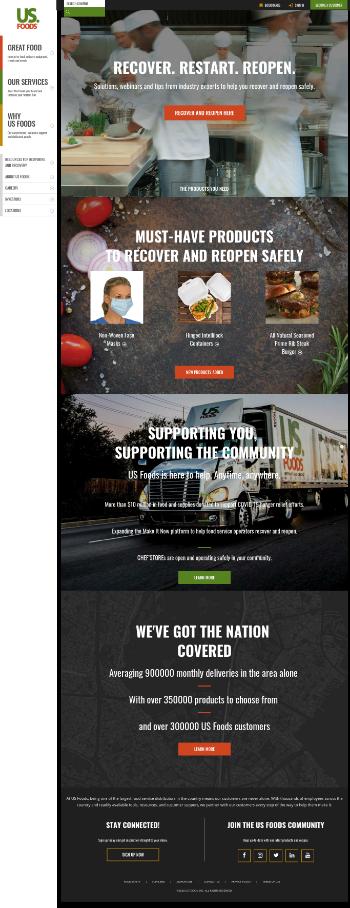 US Foods Holding Corp. Website Screenshot