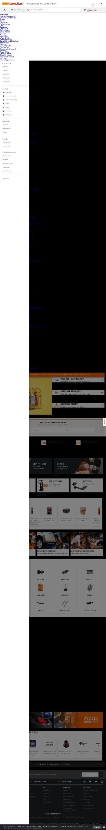 AutoZone, Inc. Website Screenshot