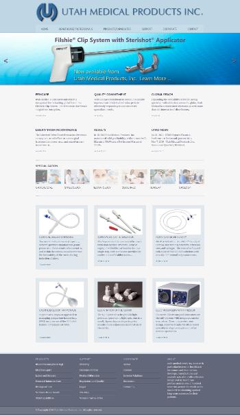 Utah Medical Products, Inc. Website Screenshot