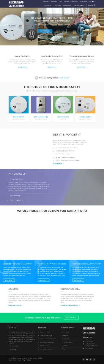 Universal Security Instruments, Inc. Website Screenshot