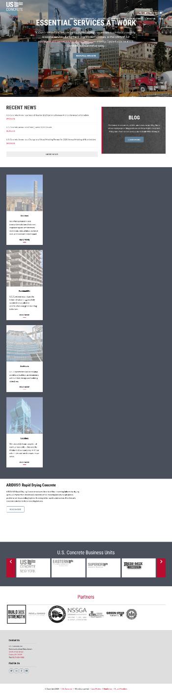 U.S. Concrete, Inc. Website Screenshot