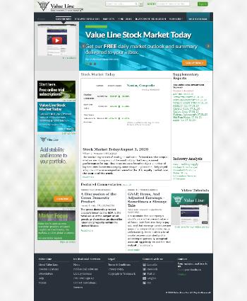 Value Line, Inc. Website Screenshot