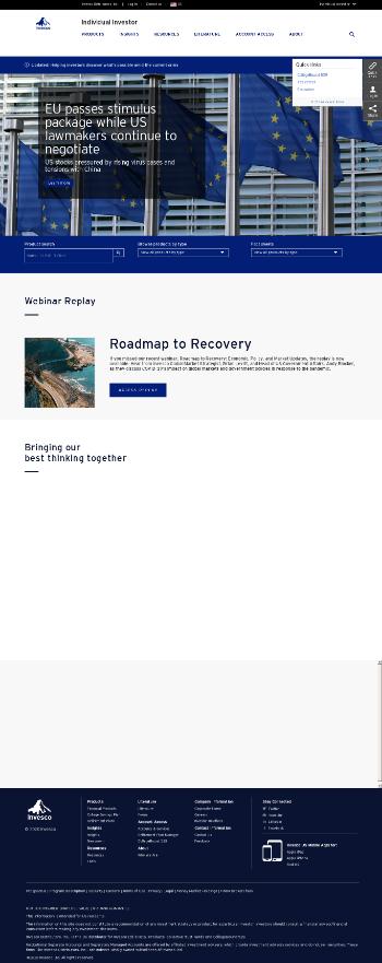 Invesco Bond Fund Website Screenshot