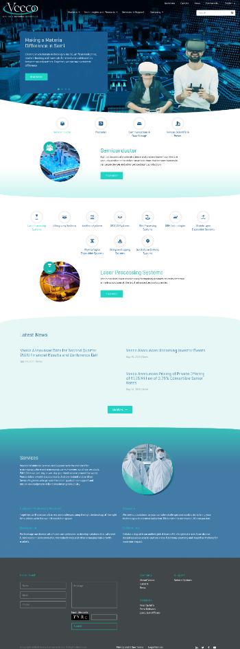 Veeco Instruments Inc. Website Screenshot