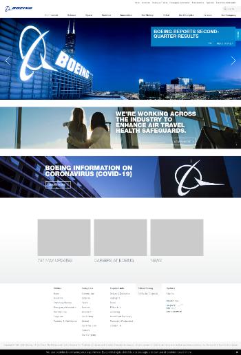 The Boeing Company Website Screenshot
