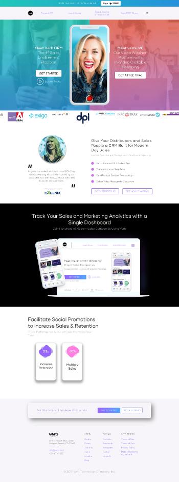 Verb Technology Company, Inc. Website Screenshot