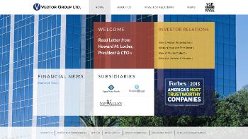 Vector Group Ltd. Website Screenshot