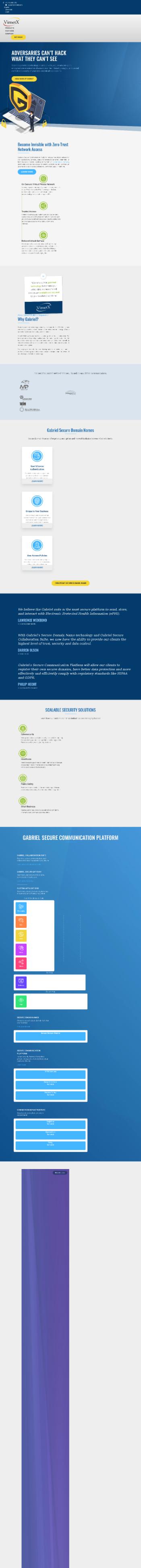VirnetX Holding Corp Website Screenshot