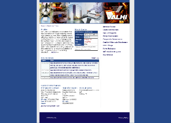 Valhi, Inc. Website Screenshot