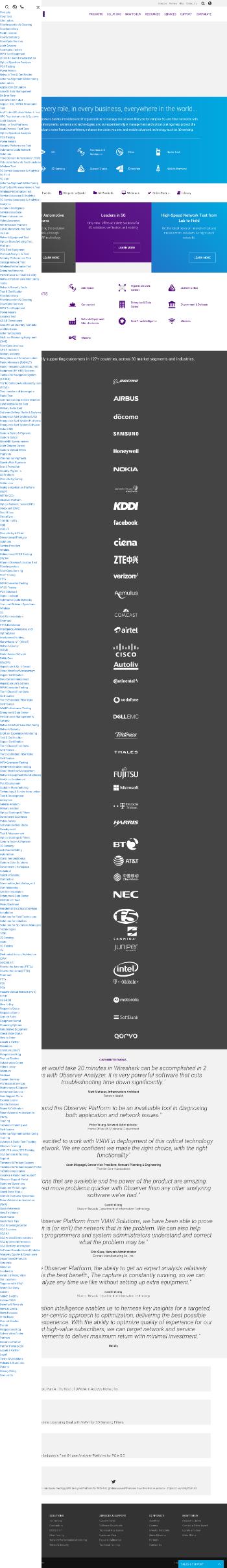Viavi Solutions Inc. Website Screenshot