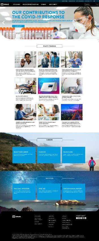 Abbott Laboratories Website Screenshot