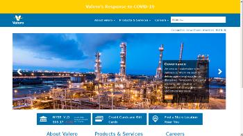 Valero Energy Corporation Website Screenshot
