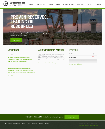 Viper Energy Partners LP Website Screenshot